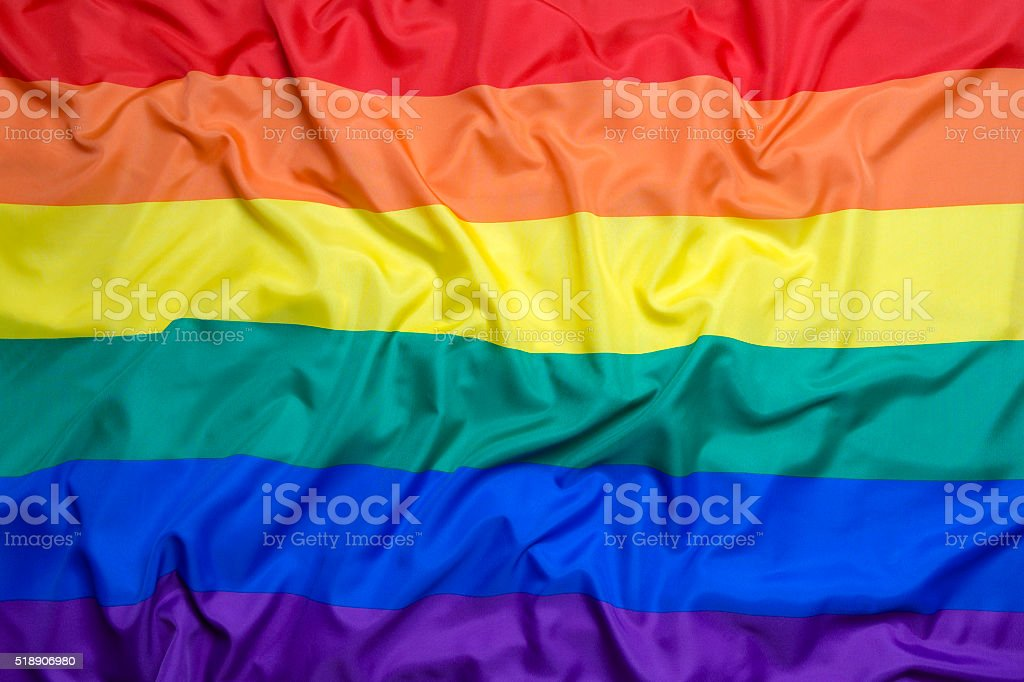 Rainbow flag for background stock photo