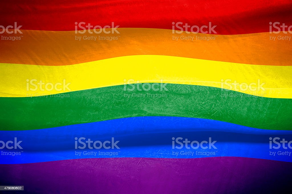 Rainbow  Flag Gay Rights Pride stock photo
