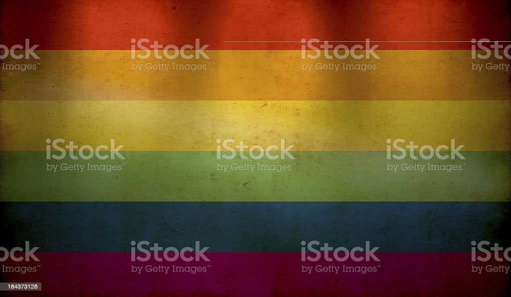 Rainbow Flag Grunge Wallpaper royalty-free stock photo
