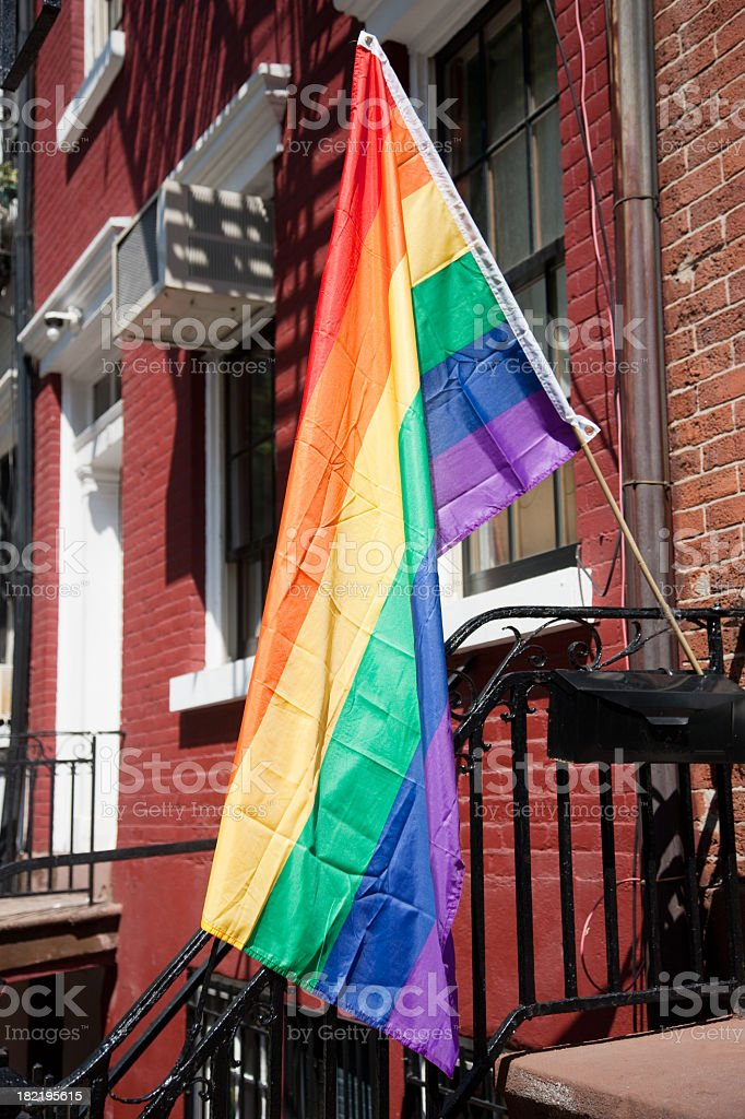 Rainbow Flag New York City Christopher Street Day royalty-free stock photo