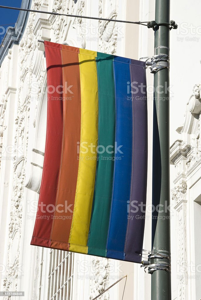GLBT Rainbow flag stock photo