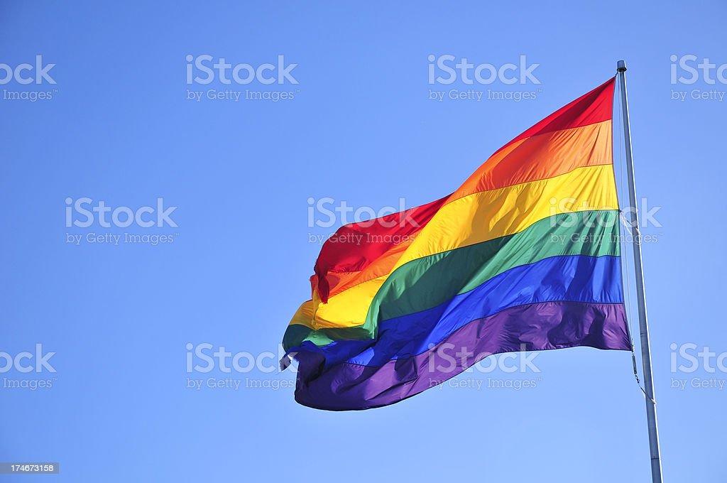 Rainbow flag royalty-free stock photo