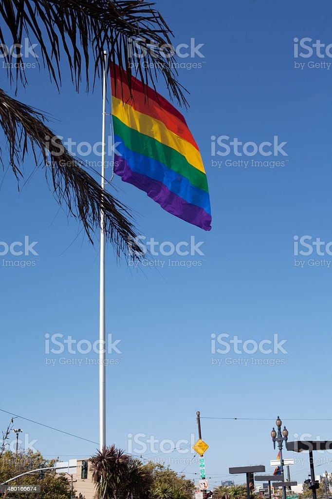 Rainbow flag stock photo