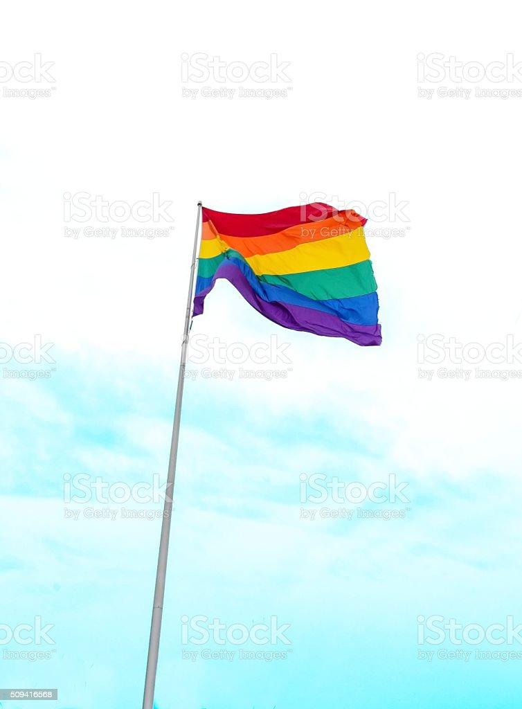LGBT rainbow flag stock photo