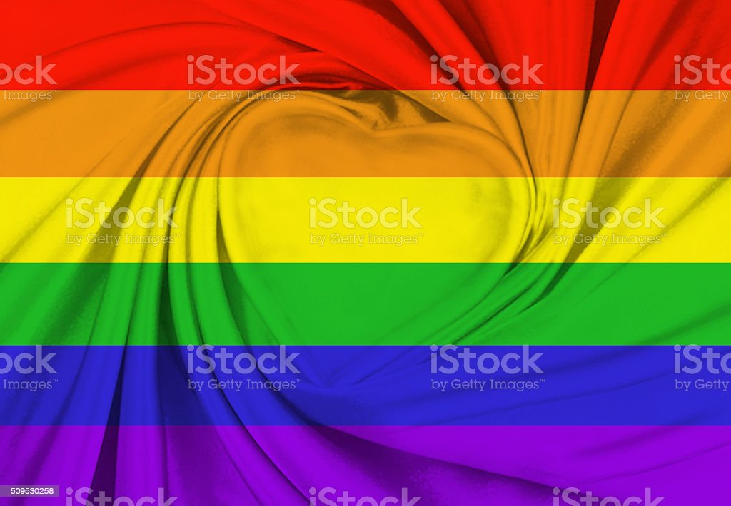 Rainbow flag stock photo