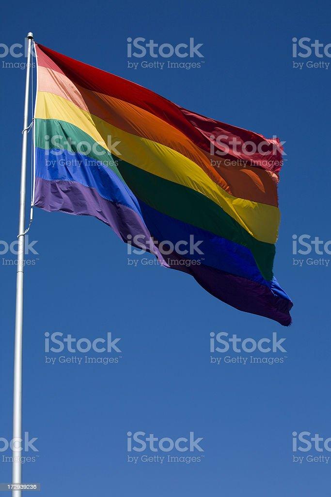 Rainbow Flag, San Francisco stock photo