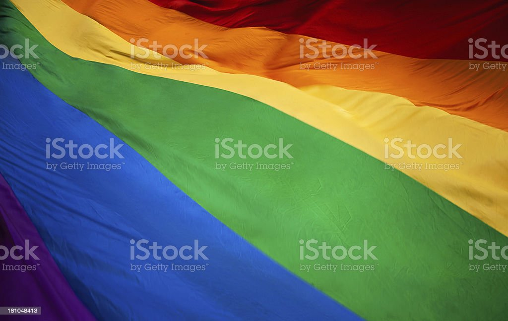 Rainbow Flag XXXL stock photo