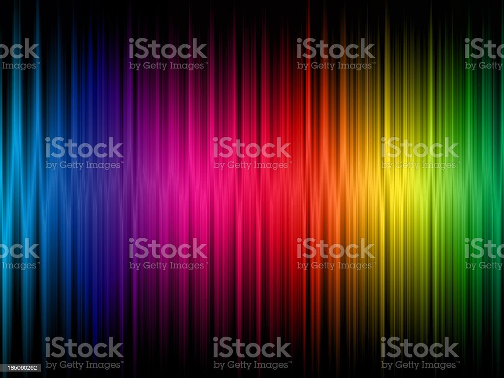 A rainbow frequency abstract background stock photo