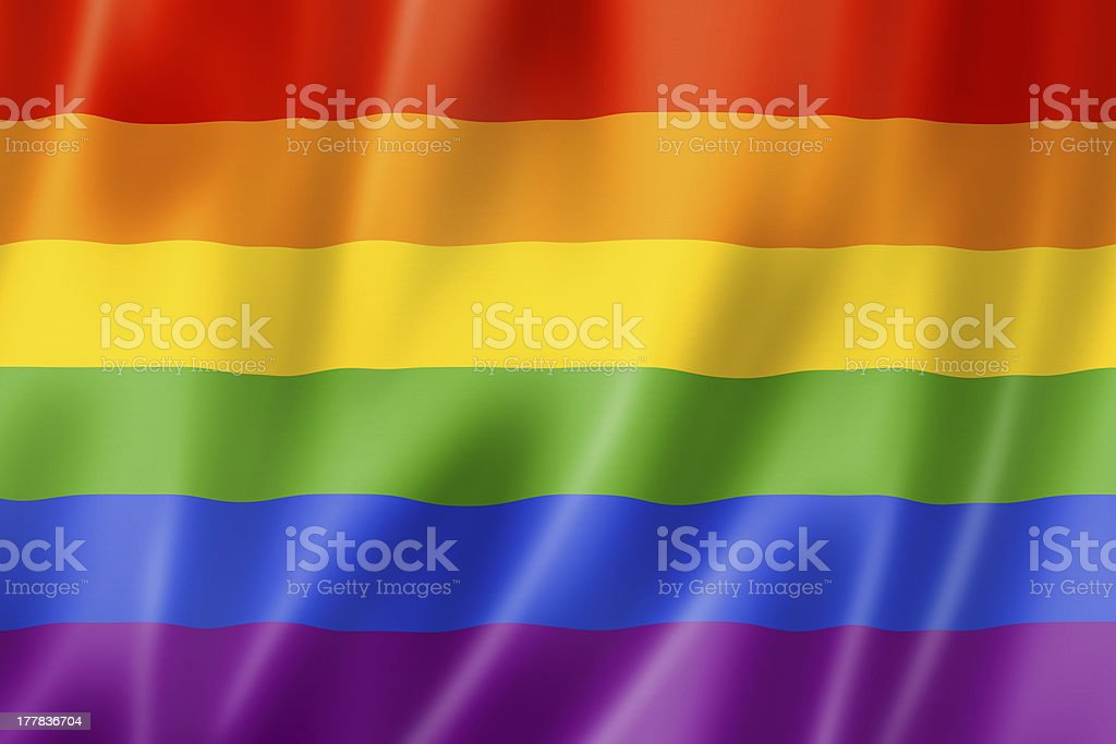 Rainbow gay pride flag royalty-free stock photo