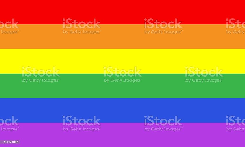 Rainbow gay pride flag stock photo