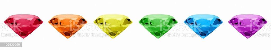 Rainbow Gems royalty-free stock photo