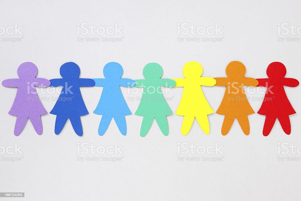 Rainbow girls royalty-free stock photo