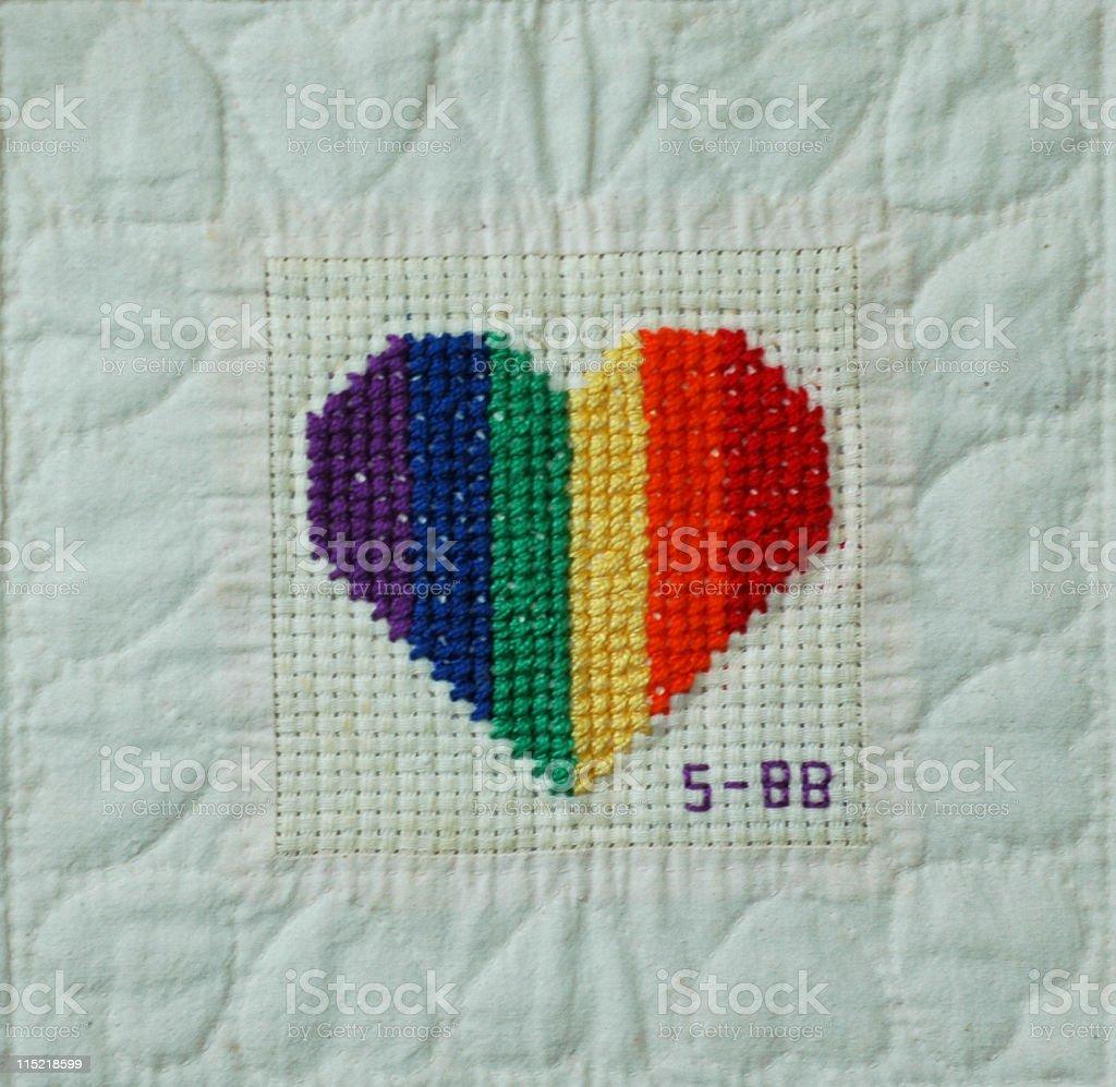 Rainbow Heart royalty-free stock photo