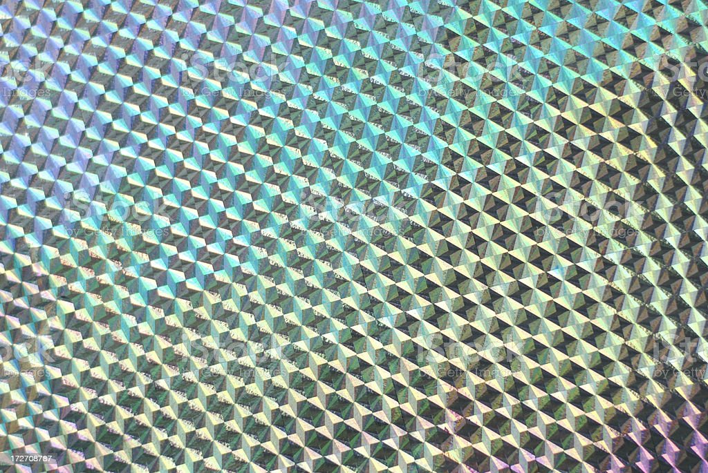 Rainbow Hologram Gift Wrap Full Frame Background stock photo