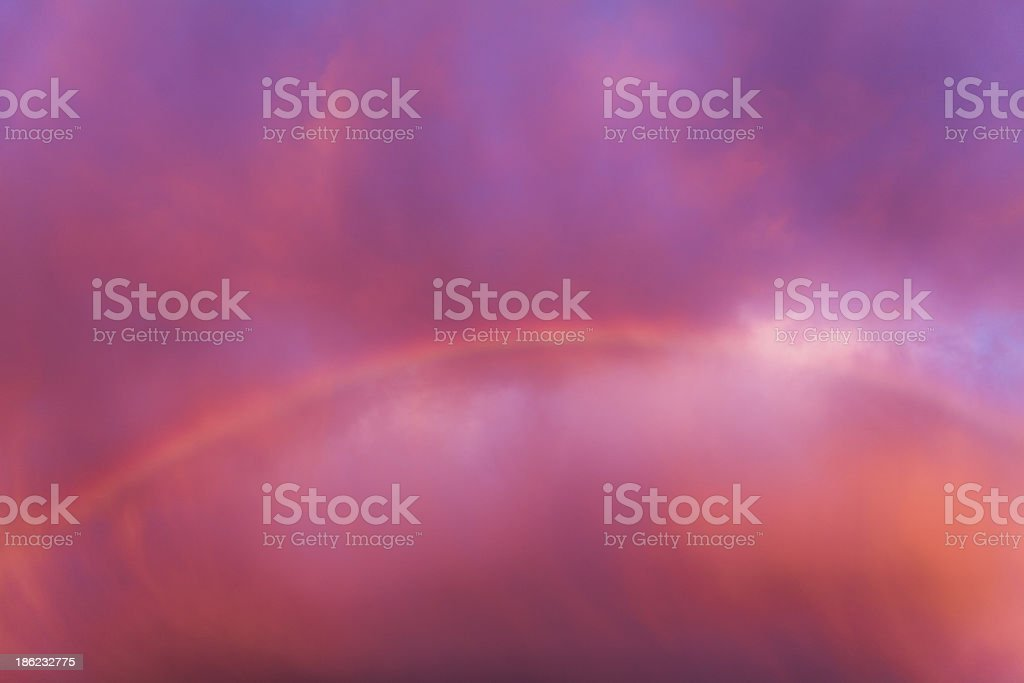 Rainbow in dramatic sky royalty-free stock photo