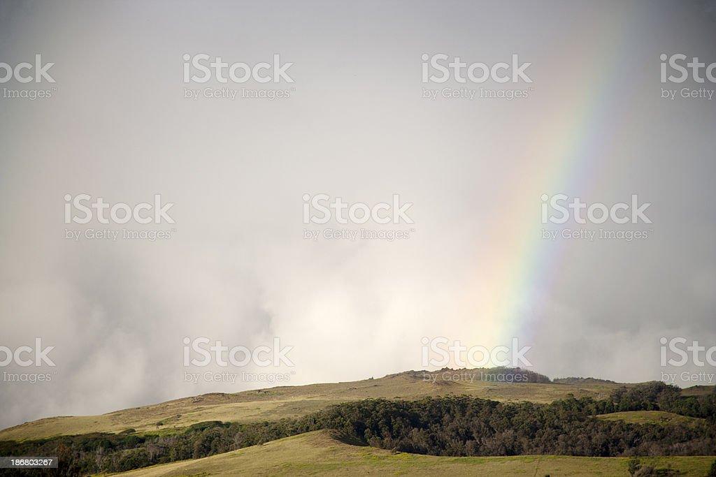 Rainbow in Easter Island stock photo