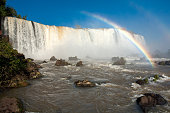Rainbow in Iguazu falls national park