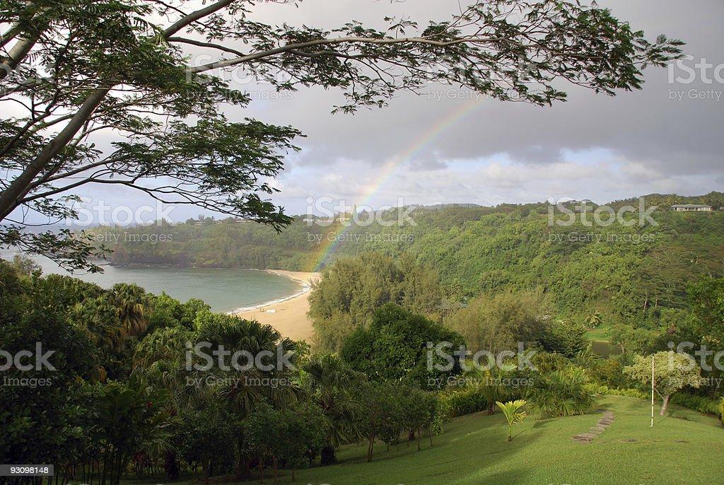 Rainbow in Kauai stock photo