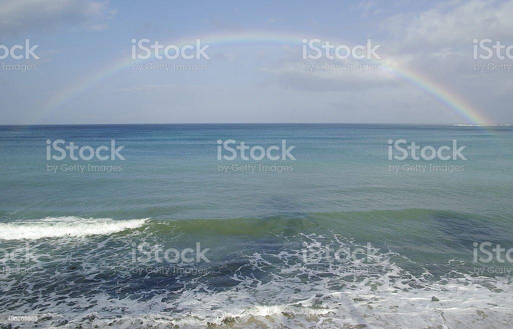 Rainbow in Pagudpud, Luzon stock photo