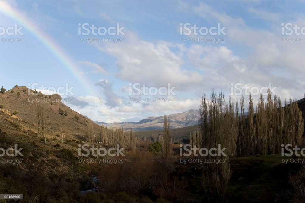 Rainbow in Patagonia royalty-free stock photo