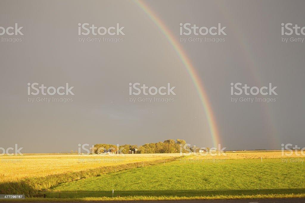Rainbow in sun stock photo