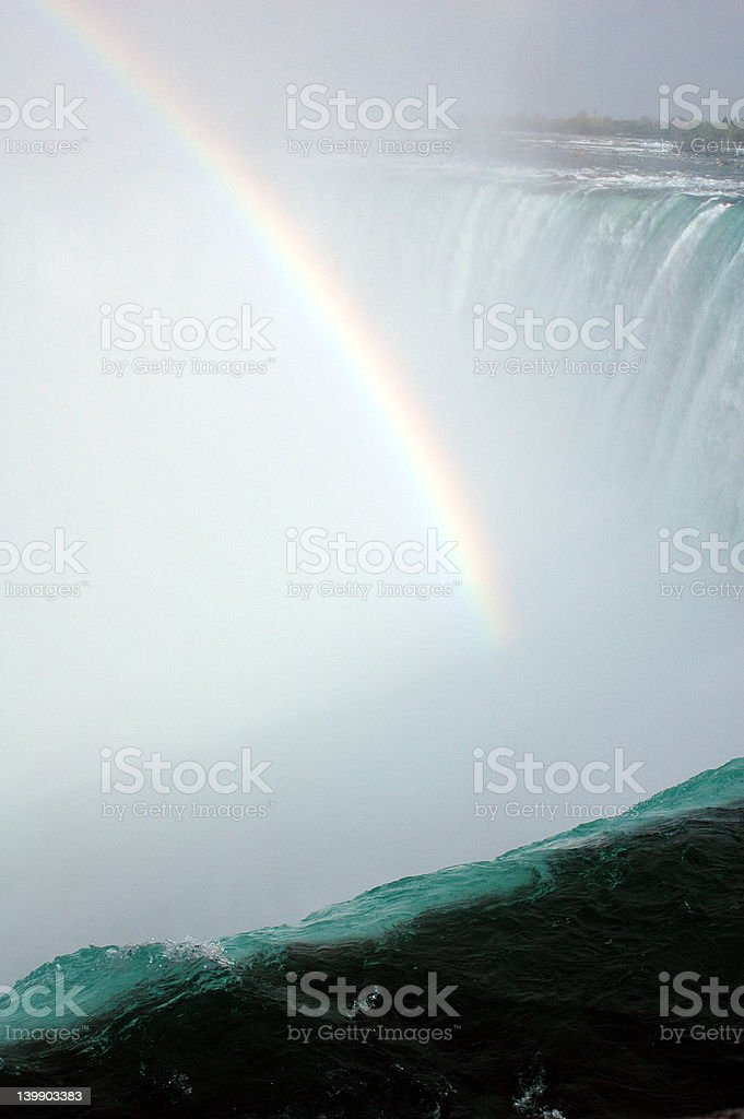 Rainbow in the falls royalty-free stock photo