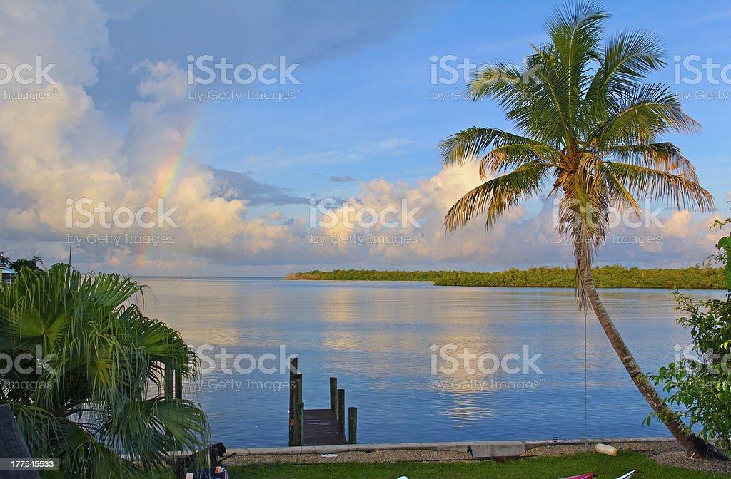 Île arc-en-ciel photo libre de droits