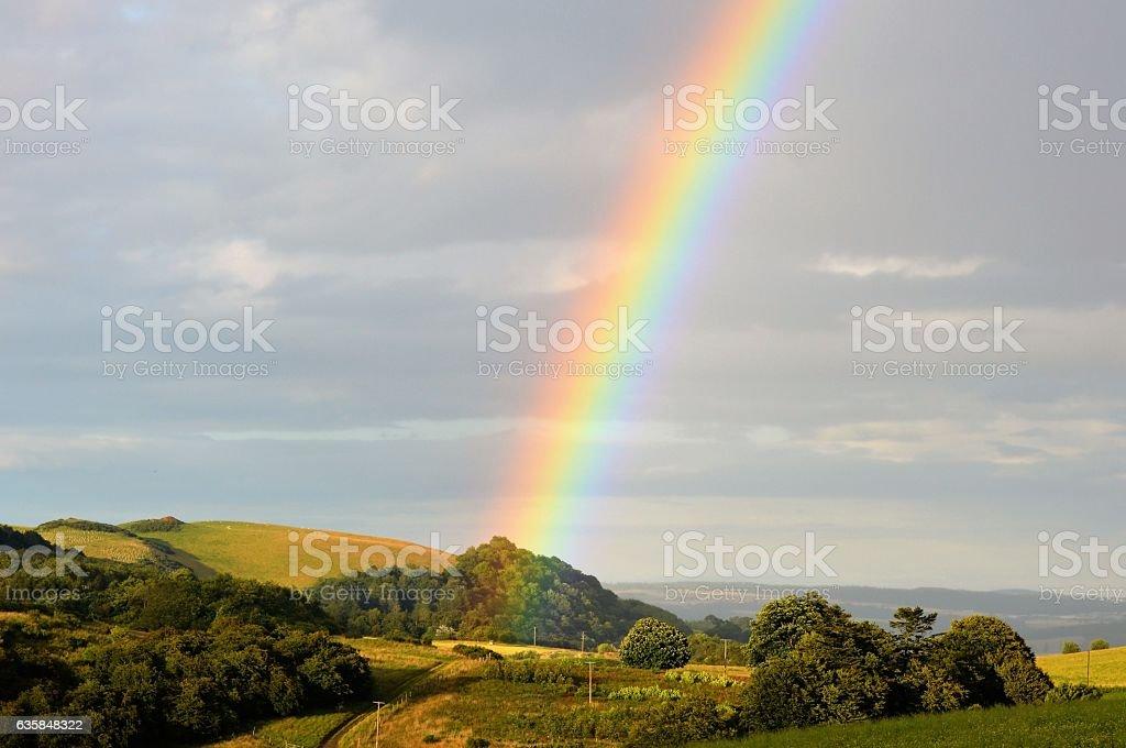 Rainbow landcape stock photo