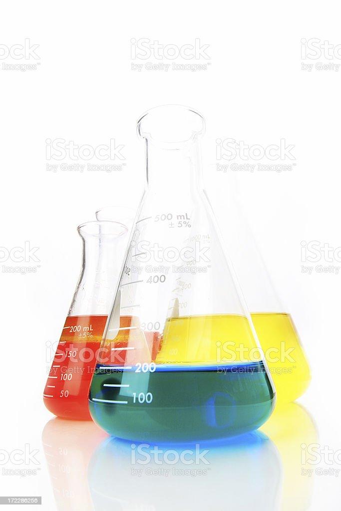 Rainbow liquids royalty-free stock photo