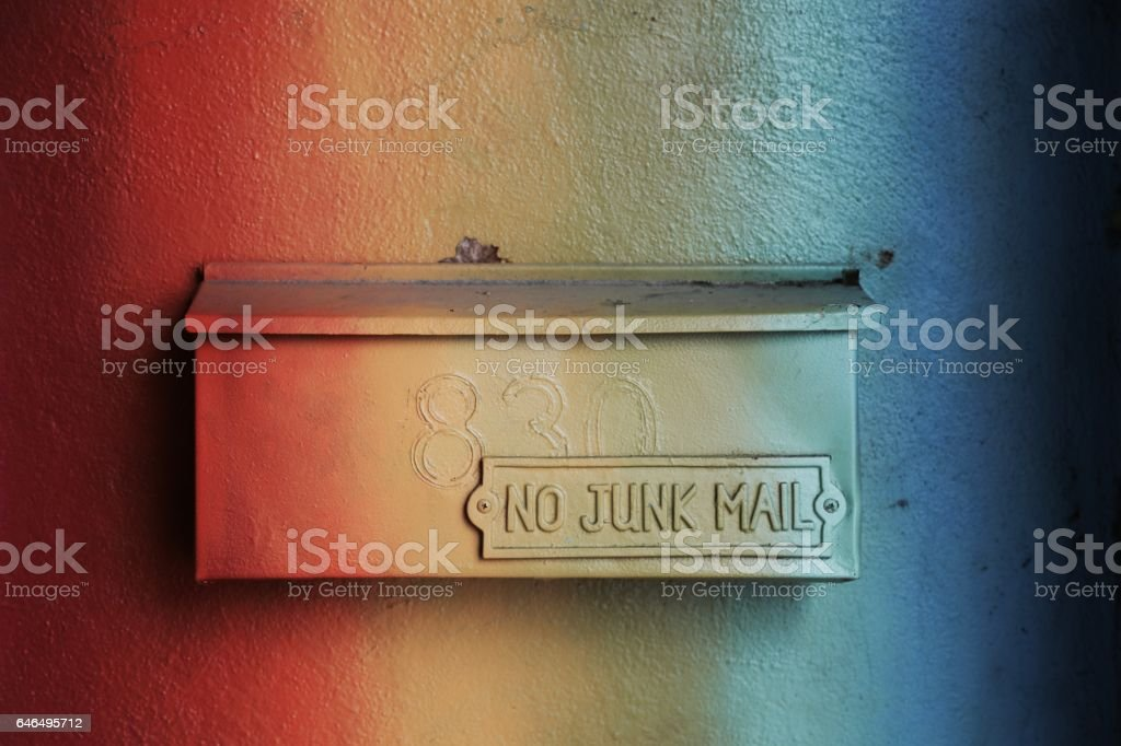 Rainbow Mail Box stock photo