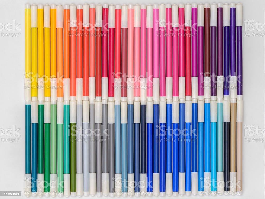 Rainbow Markers 01 royalty-free stock photo