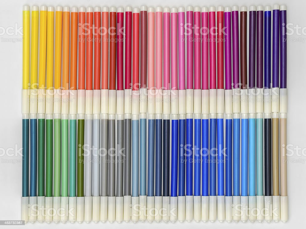 Rainbow Markers royalty-free stock photo