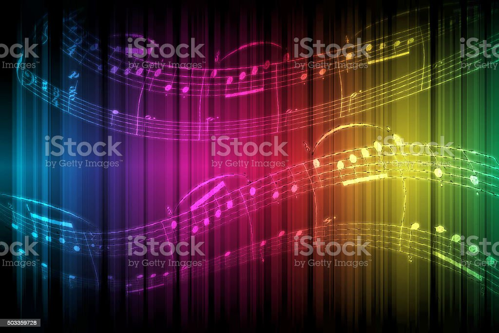 Rainbow Music stock photo