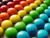 Rainbow of candy