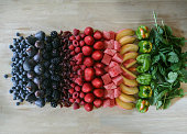 Rainbow of ingredients
