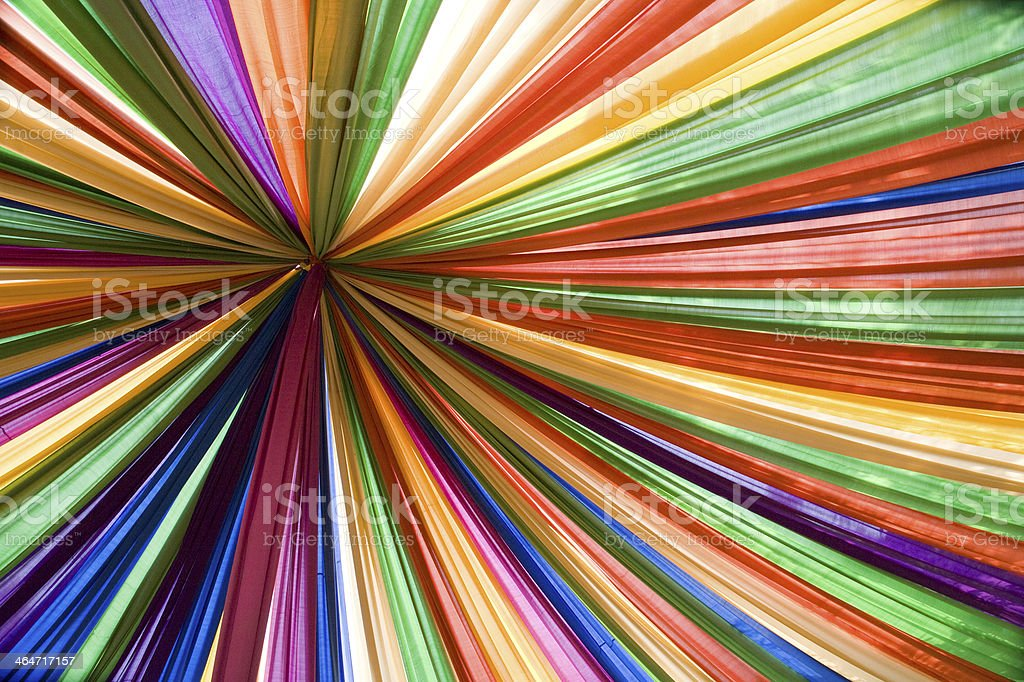 rainbow of material stock photo