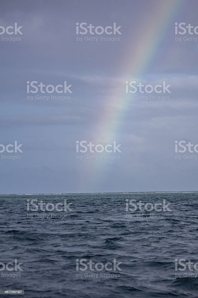Rainbow of Store Bay Tobago stock photo