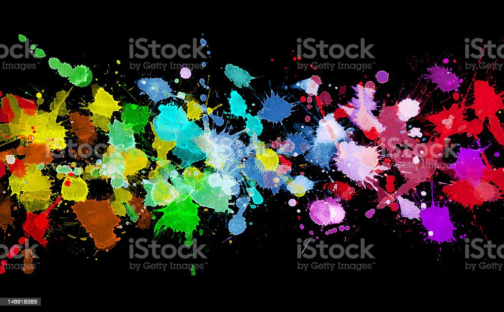 Rainbow of watercolor paint royalty-free stock photo