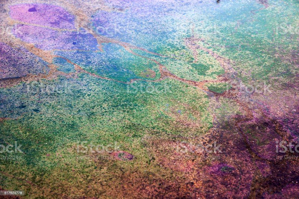 Rainbow on oil stock photo