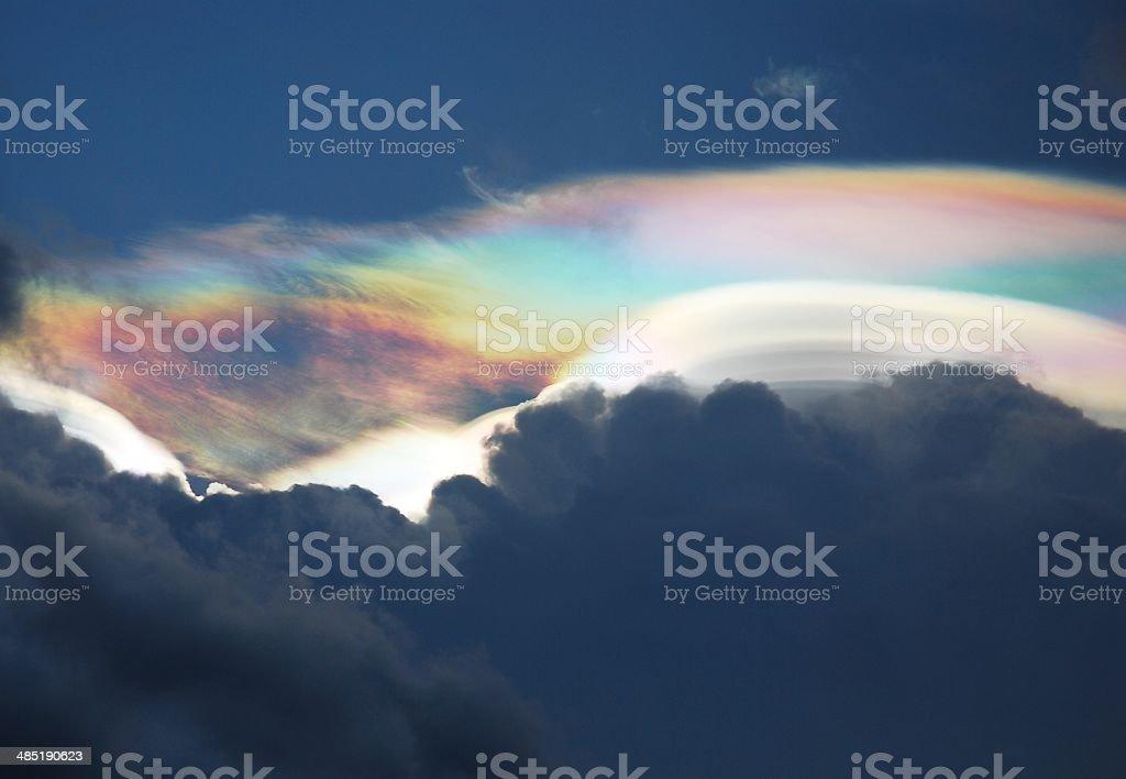 Rainbow on the sky stock photo