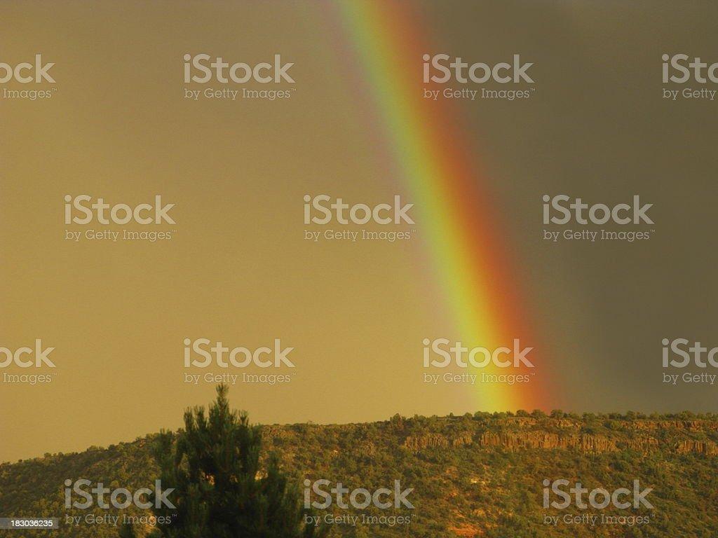 Rainbow Over An Arizona Mesa royalty-free stock photo