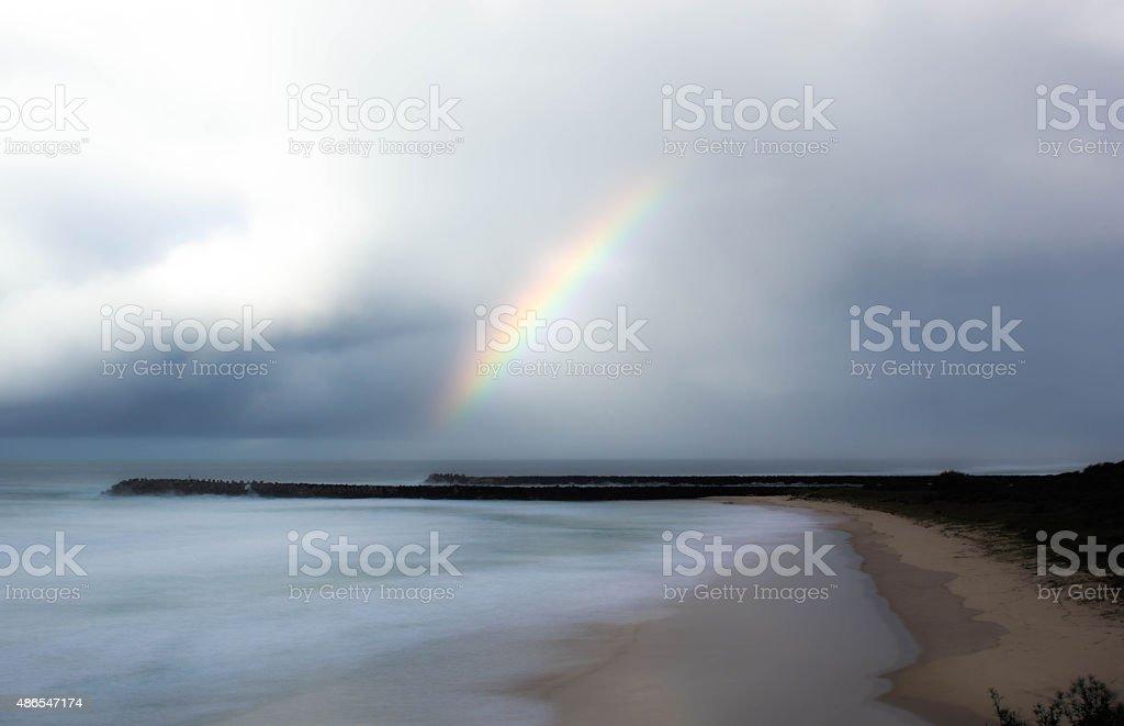 レインボーにビーチ ロイヤリティフリーストックフォト