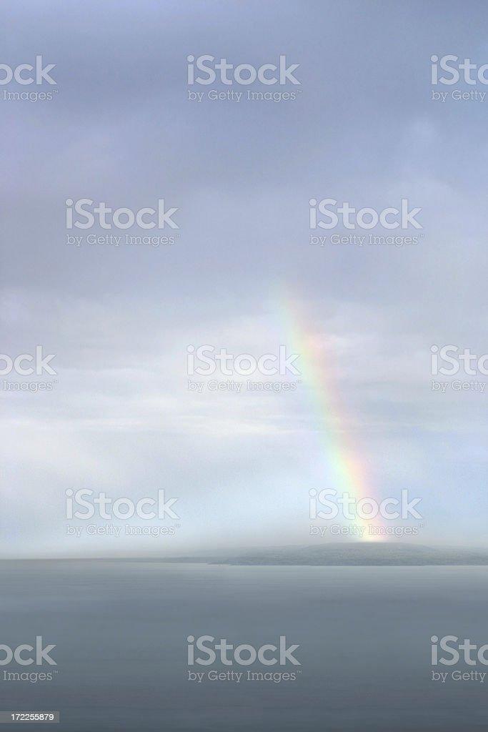 Rainbow Over Lake Superior royalty-free stock photo