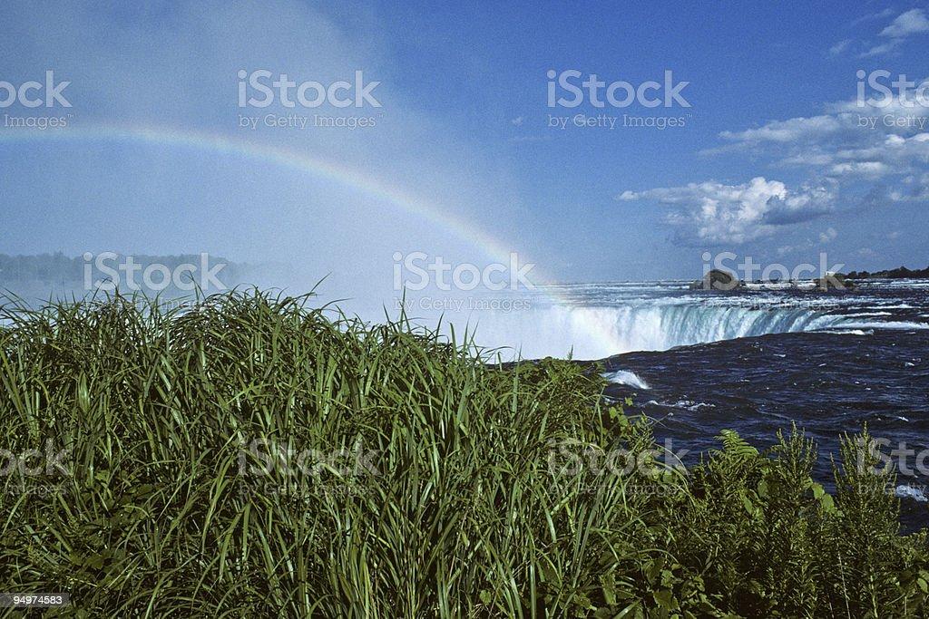 Rainbow Over Niagara Falls stock photo