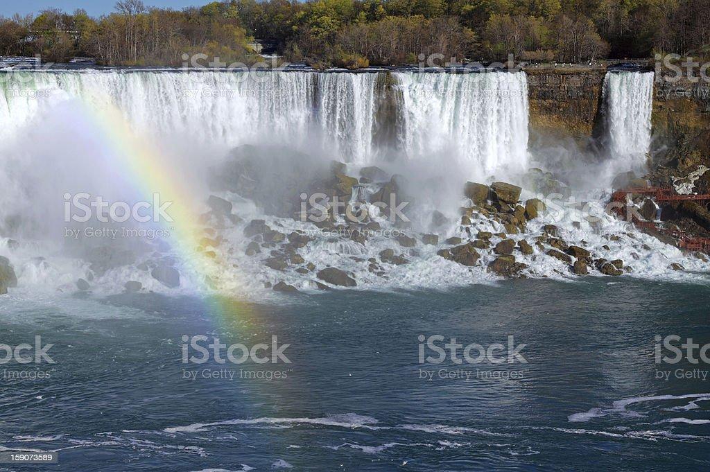 Rainbow over Niagara royalty-free stock photo
