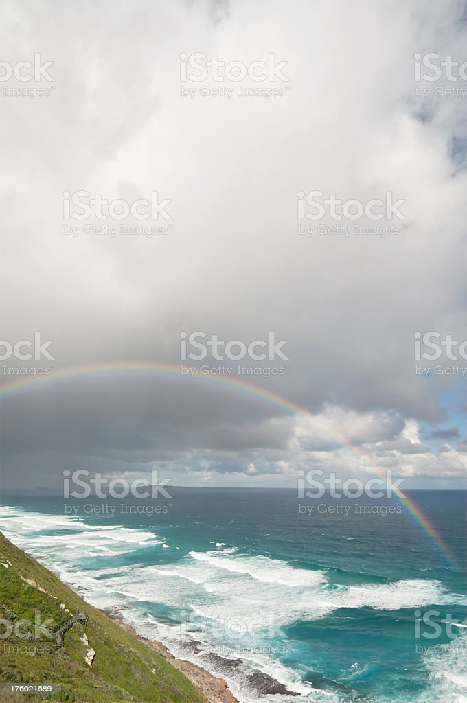Rainbow over Sea royalty-free stock photo