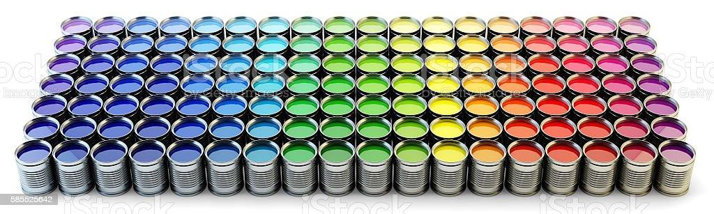 Rainbow paint palette stock photo