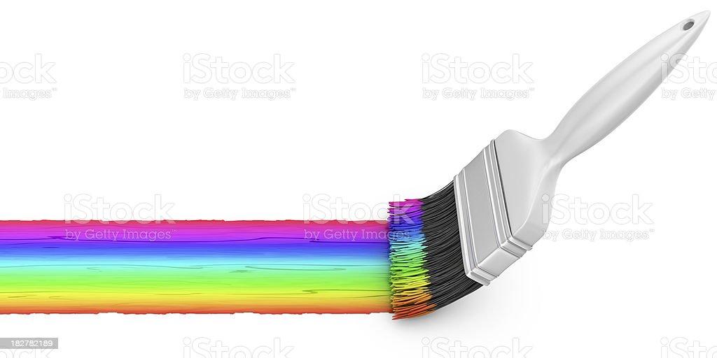 rainbow paint royalty-free stock photo