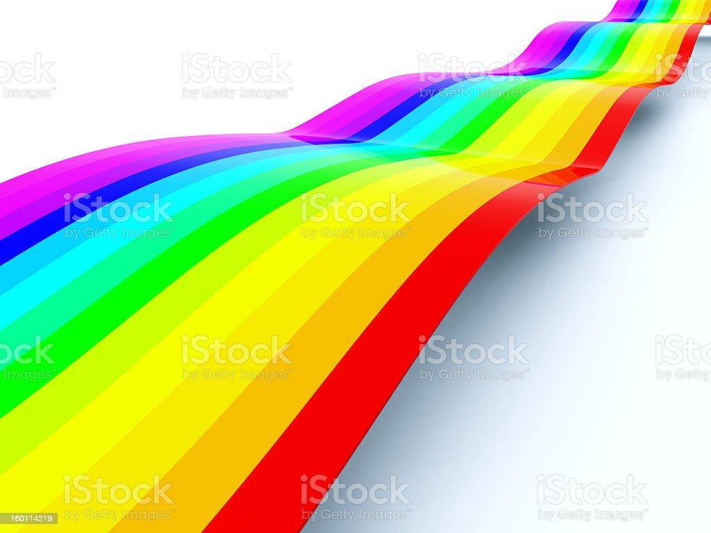 Rainbow path royalty-free stock photo