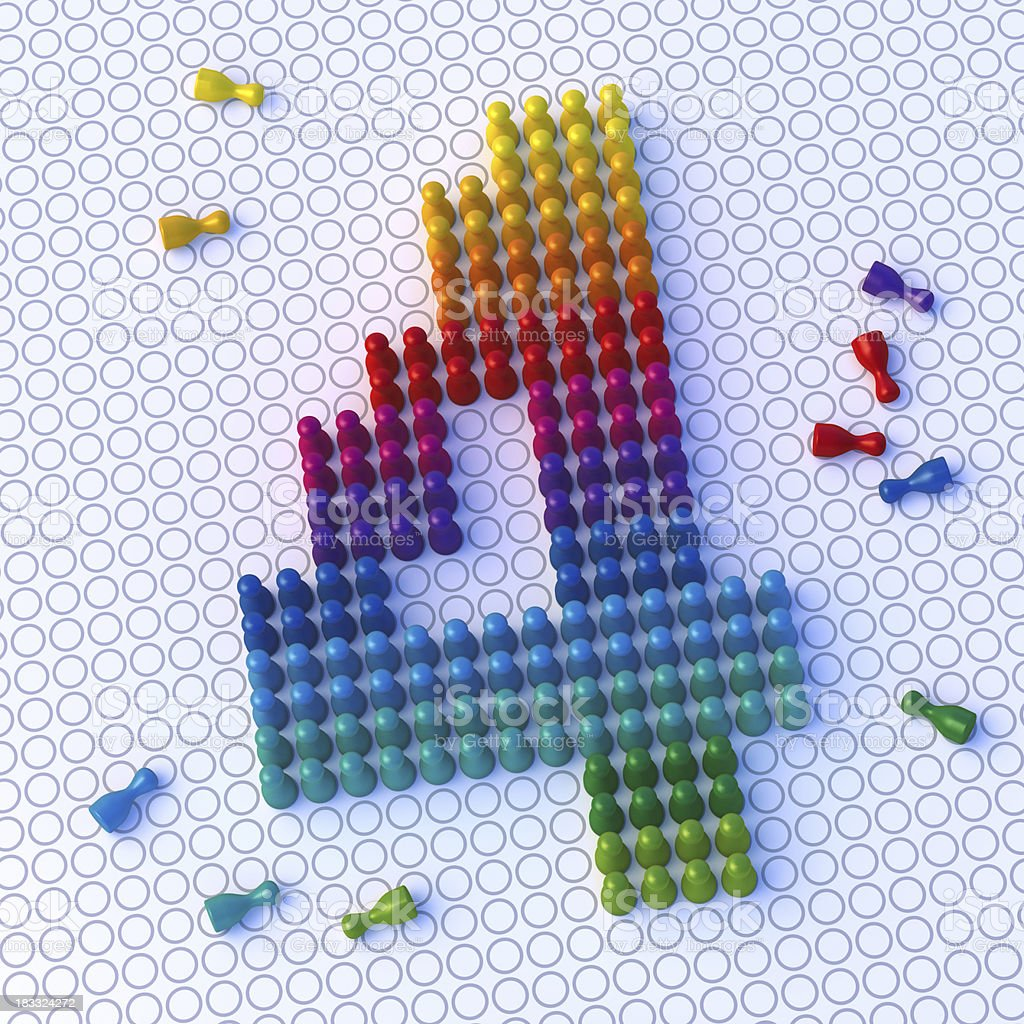 Rainbow Pawn Number Four royalty-free stock photo
